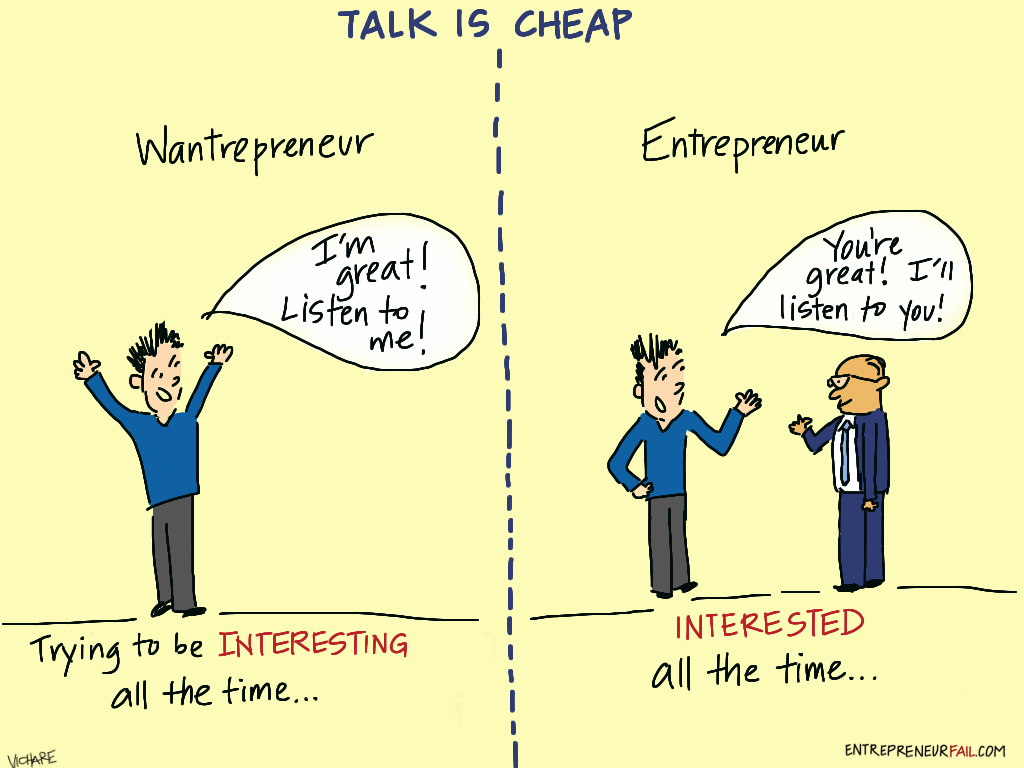 #entrepreneurfail Talk is Cheap